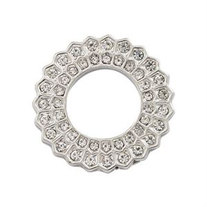 Picture of Crystal Sunburst Silver Circle Frame